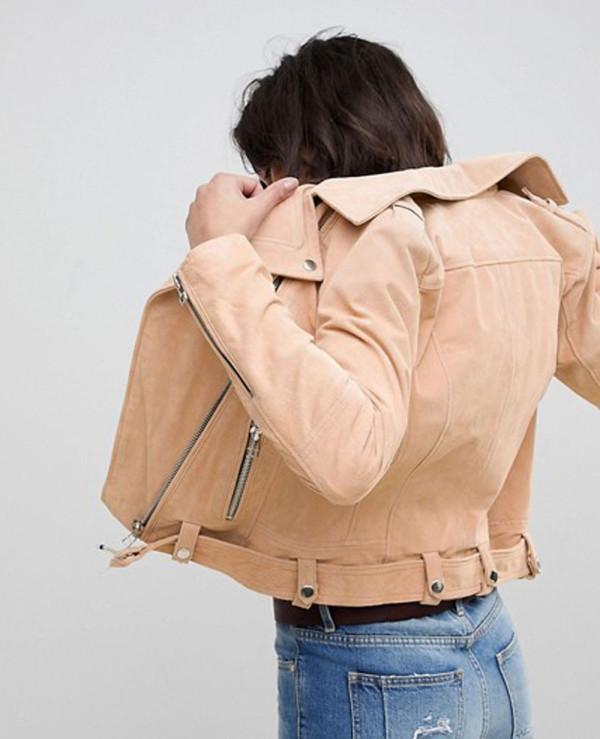 Women-Custom-Suede-Biker-Jacket-with-Belt